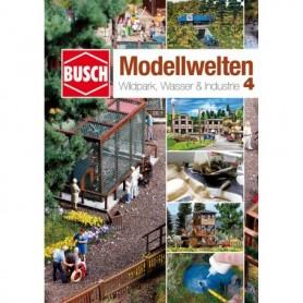 """Busch 999814 Landskapskatalog med byggtips """"Natur Pure - Wildpark, Wasser & Industrie - nr 4"""