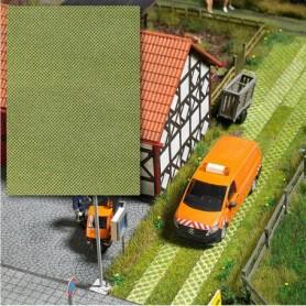 Busch 7430 Stenplattor med gräs, mått 200 x 145 mm