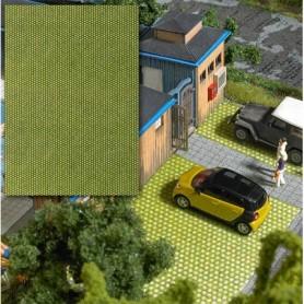 Busch 7431 Stenplattor med gräs, mått 200 x 145 mm