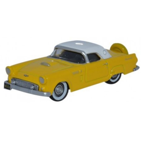 Oxford Models 113145 Ford Thunderbird 1956, Goldenglow Yellow / Colonial White