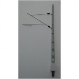 Entec 3403-1F Linjestolpe m fundament, modern utliggare, grålack