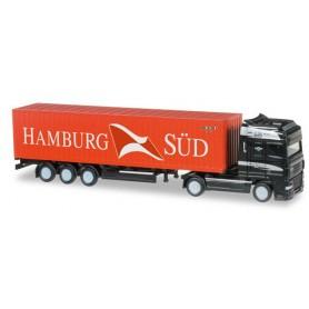 "Herpa 066440 DAF XF SSC container semitrailer ""Hamburg Süd"""
