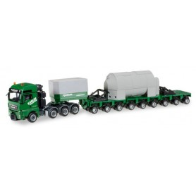 "Herpa 305693 MAN TGX XXL low boy semitrailer with accessories ""Kübler"""