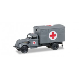 """Herpa 745406 Ford Ural truck with ambulance box (with tactical sign) """"German Forces"""""""