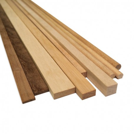 Amati 2491.03 Stripes rektangulär Padauk, 1x3 mm, längd 1000 mm