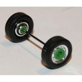 Herpa Exclusive 690106D Däck/hjulaxel, framaxel/stödaxel, 1 st, kromad/grön