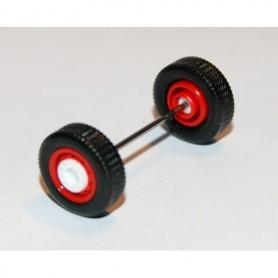 Herpa Exclusive 690125D Däck/hjulaxel, framaxel/stödaxel, 1 st, vit/röd