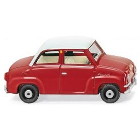 Wiking 18402 Glas Goggomobil, röd/vit, 1964