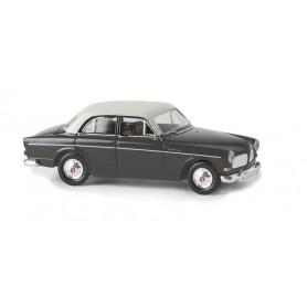 Brekina 29235 Volvo Amazon, 4-dörrars, mörkgrå/vit, TD