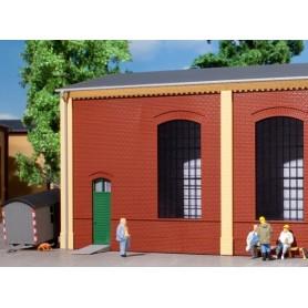 Auhagen 80502 Väggar 2325B, röda, industrifönster E