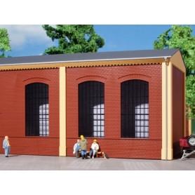 Auhagen 80503 Väggar 2325A, röda, industrifönster E