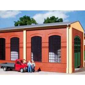 Auhagen 80504 Väggar 2326B, röda, industrifönster E