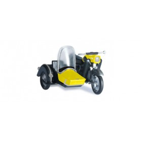 Herpa 053433.3 MZ 25 with matching sidecar, yellow/black