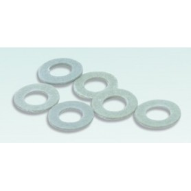 Peco R-8 R-8 Bricka, typ OO/6, fiber, mått 1.58mm (1/16in) dia. hole for use on rolling stock axles, 6 st