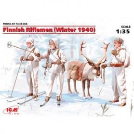 ICM 35566 Figurer Finnish Riflemen (Winter 1940)
