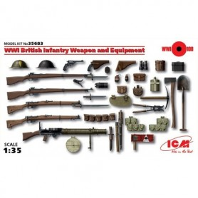 ICM 35683 VWI British Infantry Weapon and Equipment