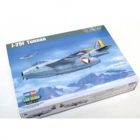 """Hobby Boss 81745 Flygplan SAAB J-29F """"Tunnan"""", med svenska dekaler"""