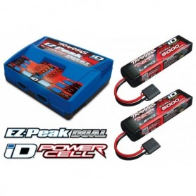Traxxas 2990GX Laddare EX-Peak Dual 8A och 2 x 3S 5000mAh Batteri Combo