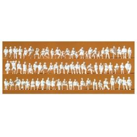 Preiser 16358 Omålade figurer, sittande, 120 st
