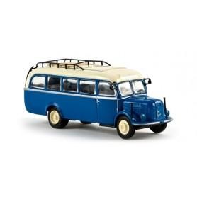 """Brekina 58001 Buss Steyr 380/I """"Von Starline"""", capriblå/ljuselfenben"""
