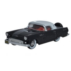 Oxford Models 114395 Ford Thunderbird 1956, Raven Black / Colonial White