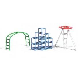 Busch 8064 Klätterställningar för lekplatsen, 3 olika