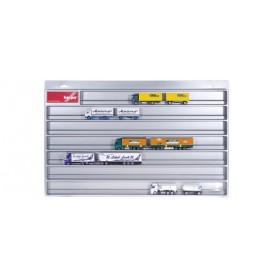 Herpa 029728 Showcase for trailer, silver (overlength: 27.5 in x 17.7 in. x 1.4 in.)