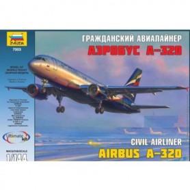 "Zvezda 7003 Flygplan Civil Airliner Airbus A-320 ""SAS"""