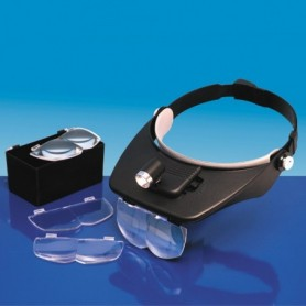 Model Craft LC1764 Headband Magnifier with 4 Lenses