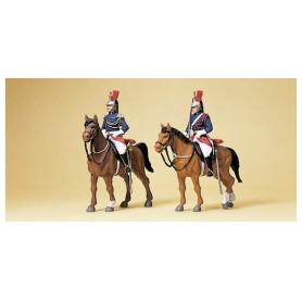 Preiser 10435 Garde Républicaine till häst, 2 st
