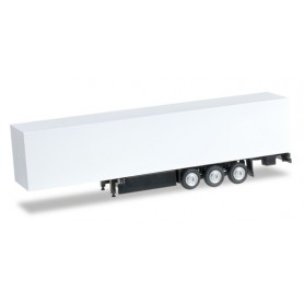 Herpa 084529 Box trailer with palett box Content: 2 pcs.