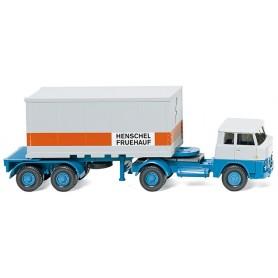 """Wiking 52601 Container semi-truck 20' (Henschel) """"Henschel Fruehauf"""""""