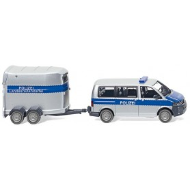 "Wiking 30807 VW T5 GP Multivan with horse trailer ""Polizei"""