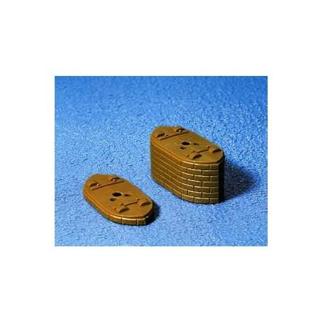 Noch 21410 Bropelare, 5 mm hög, för Noch brosystem, 5 st