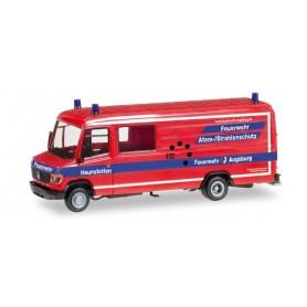 """Herpa 092548 Mercedes-Benz Vario box-type measurement instrumentation inhalation protection """"Feuerwehr Haunstetten"""""""
