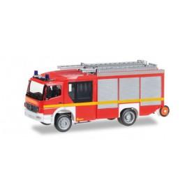 "Herpa 091060.2 Mercedes-Benz Atego Ziegler Z-Cab HLF 20, liminous red ""fire department"""