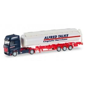 """Herpa 066488 Mercedes-Benz Actros Gigaspace tank semitrailer """"Talke"""""""
