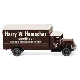 "Wiking 94407 Box truck (MB L 2500) ""Spedition Hamacher"""