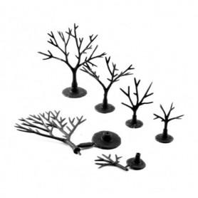 Woodland Scenics TR1120 Trädbyggsats, 114 st barrträd utan barrmaterial, höjd 1.9 - 5.08 cm