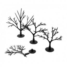 Woodland Scenics TR1121 Trädbyggsats, 57 st träd utan barr/lövmaterial, höjd 5,08 - 7.62 cm