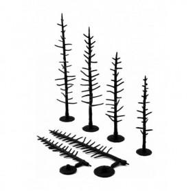 Woodland Scenics TR1123 Trädbyggsats, 12 st träd utan barr/lövmaterial, höjd 12,7 - 17,7 cm