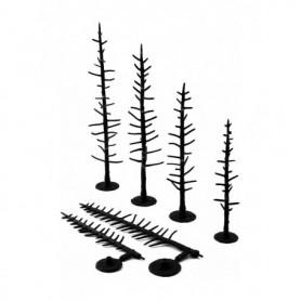 Woodland Scenics TR1124 Trädbyggsats, 70 st träd utan barr/lövmaterial, höjd 6.35 - 10.1 cm