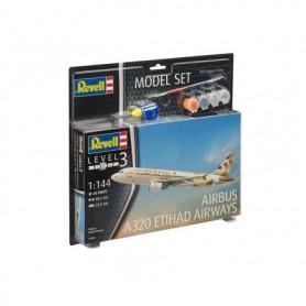 "Revell 63968 Flygplan Airbus A320 ETIHAD AIRWAYS ""Gift Set"""