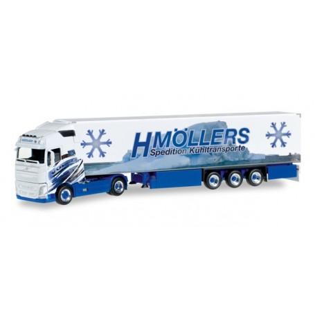 "Herpa 306317 Volvo FH Gl. refrigerated box semitrailer ""H.Möllers Kühltransporte"""
