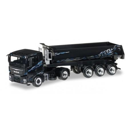 "Herpa 306218 MAN TGX XL dump semitrailer ""Wagner"""