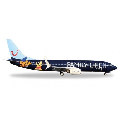 """Herpa 529433 Flygplan Jetairfly Boeing 737-800 """"Family Life Hotels"""""""