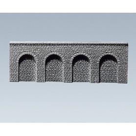 Faller 272640 Arkadplatta, med rundbågar »Naturstein Quader«, mått 37,0 x 6,0 x 0,9 cm