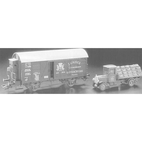 """Märklin 48098.98701 Godsvagn """"Museumsvagn 1998"""" med bil """"J. Gaiser"""""""