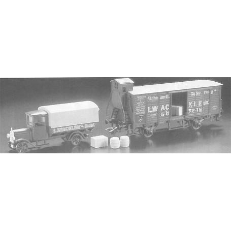 """Märklin 4880.93701 Godsvagn """"Museumsvagn 1993"""" med bil """"L. Wackler"""""""