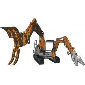 Hasegawa 54004 Hitachi Double Arm Working Machine Astaco Neo